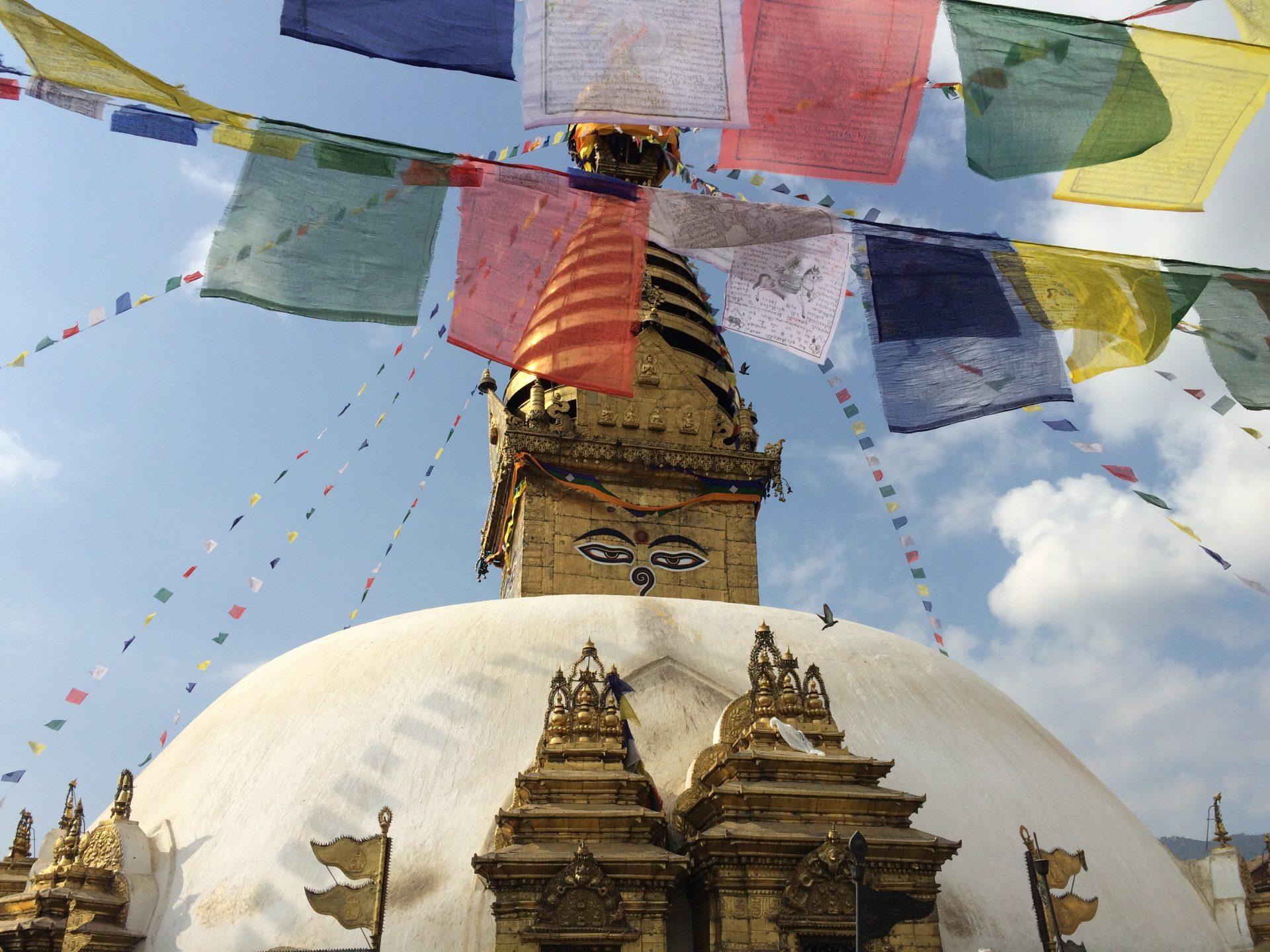 Temple Swayanbunath sur les hauteurs de Katmandou