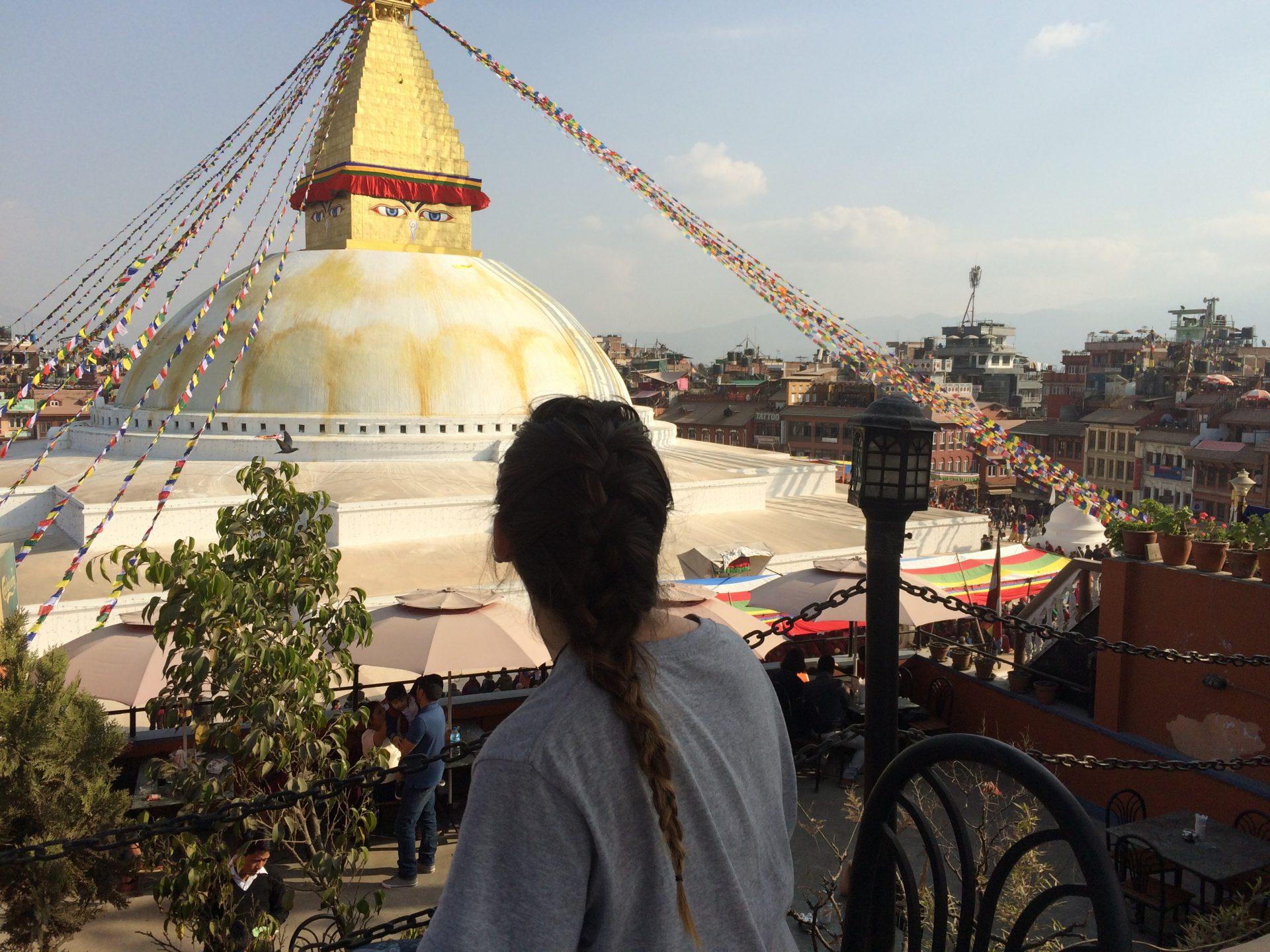 Buddha stupa, rooftop