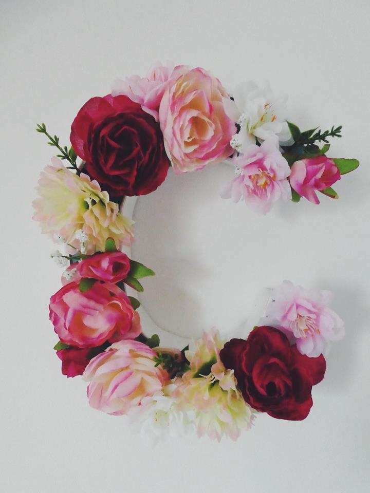Création de lettres fleuries
