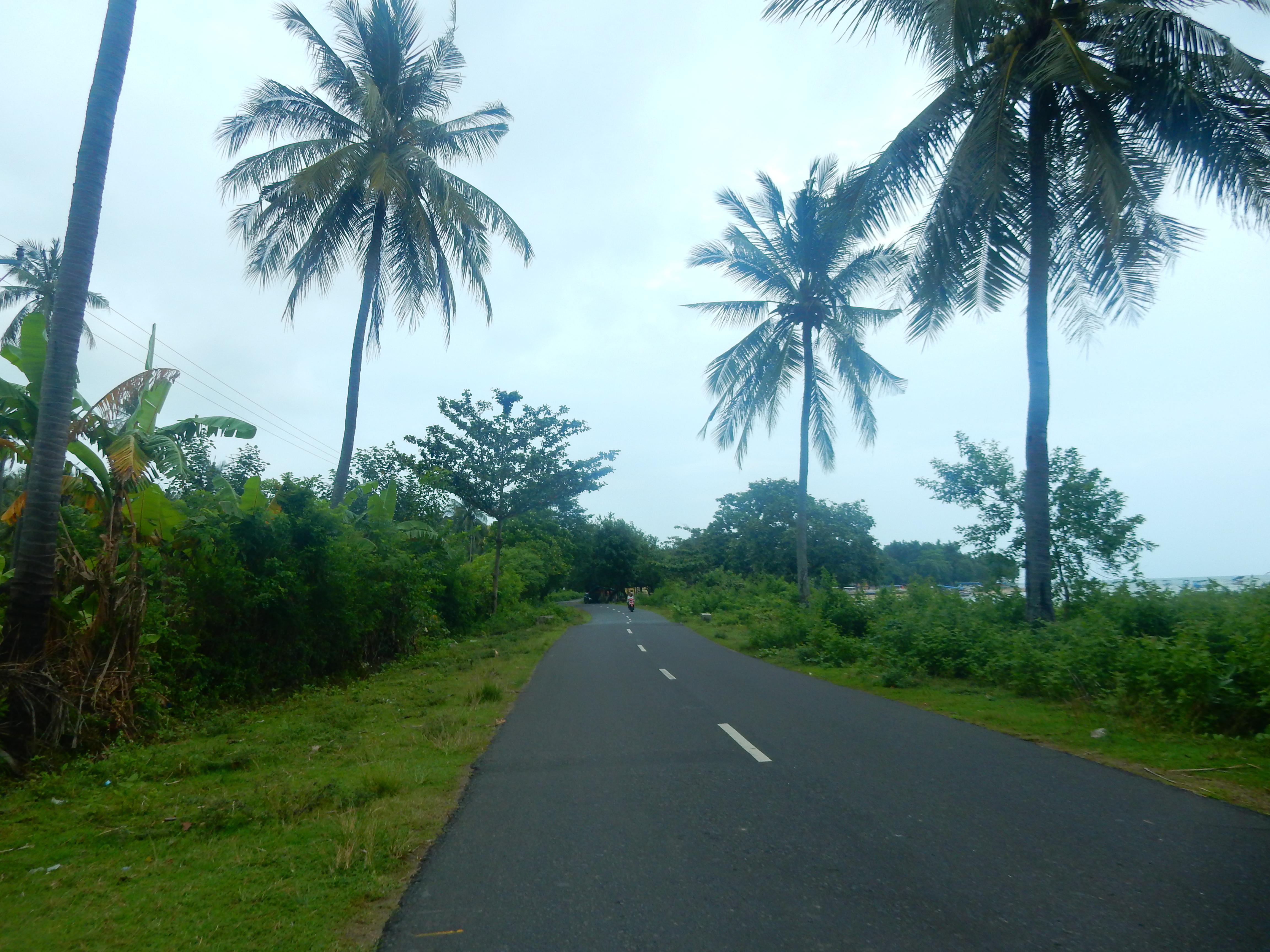 Route île de Lombok, Indonésie.