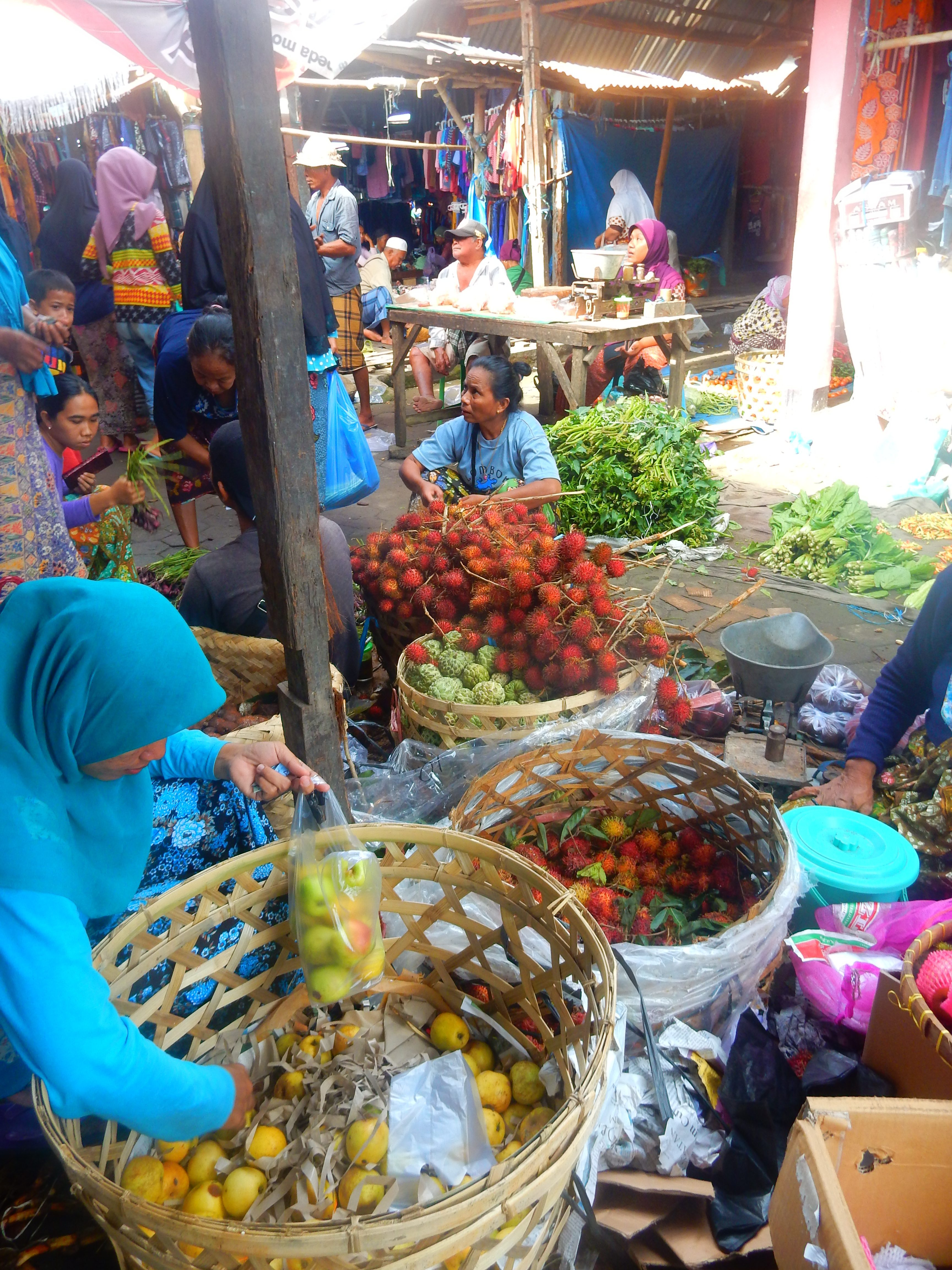 Marché Lombok, Indonésie