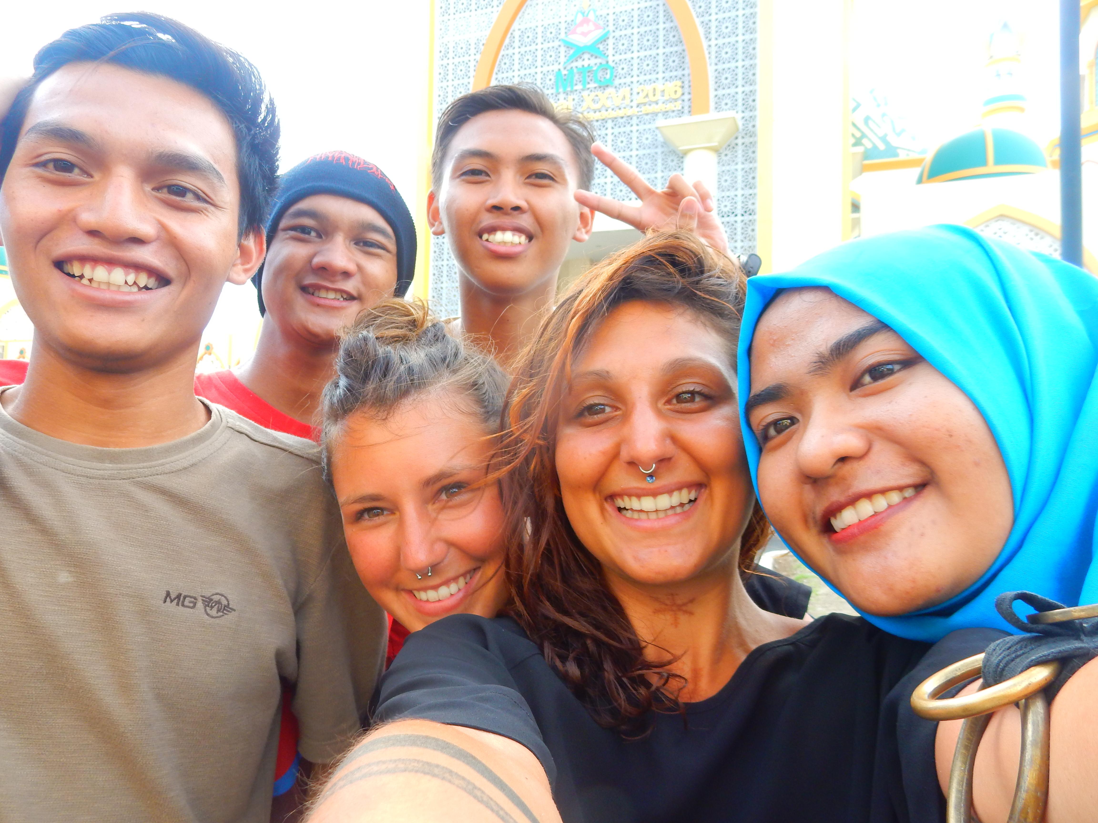 Indonésiens, Islamic center, Lombok, Indonésie