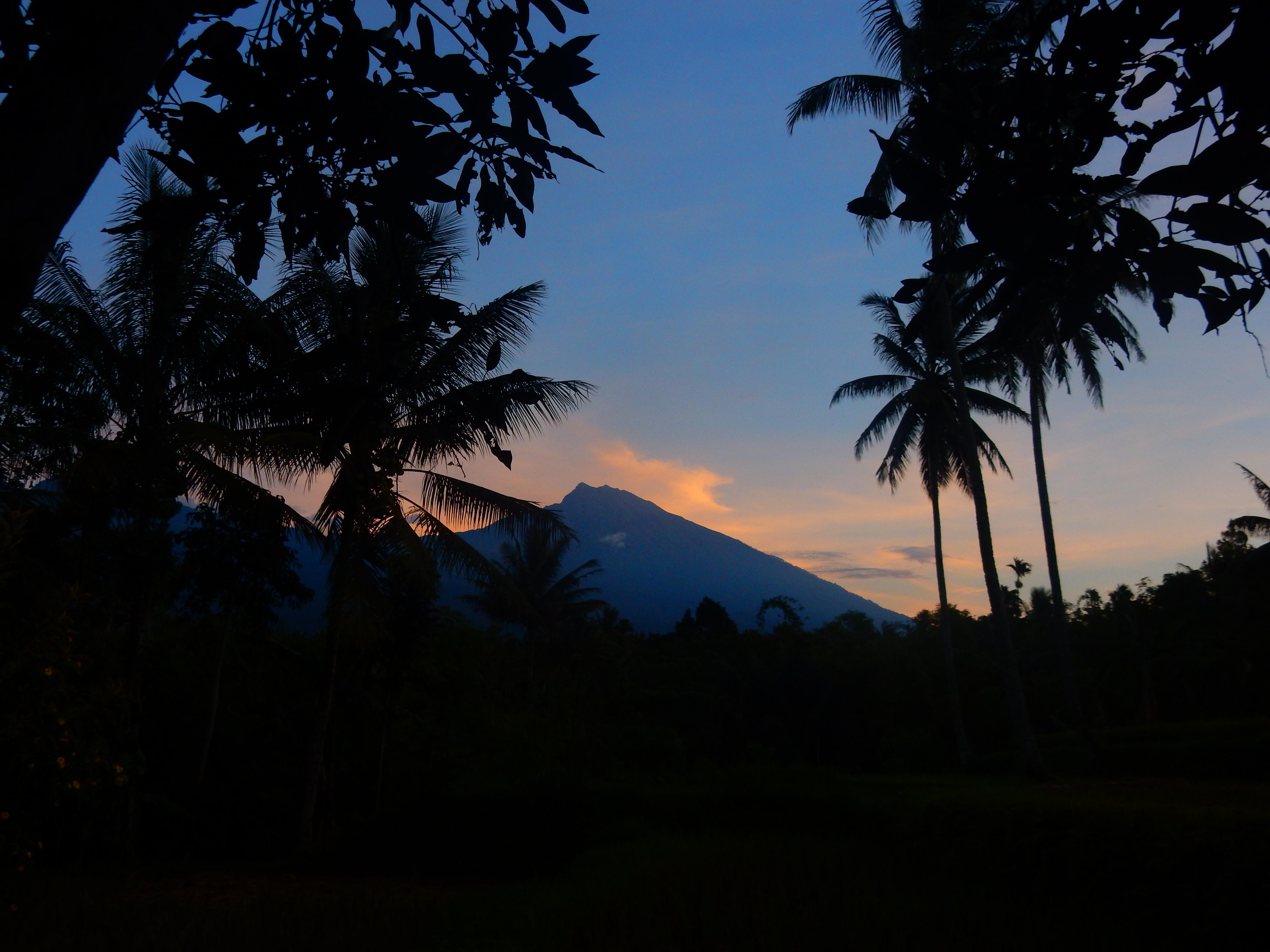 Vue Mont Rijani Hakiki In, Tetebatu Lombok, Indonésie