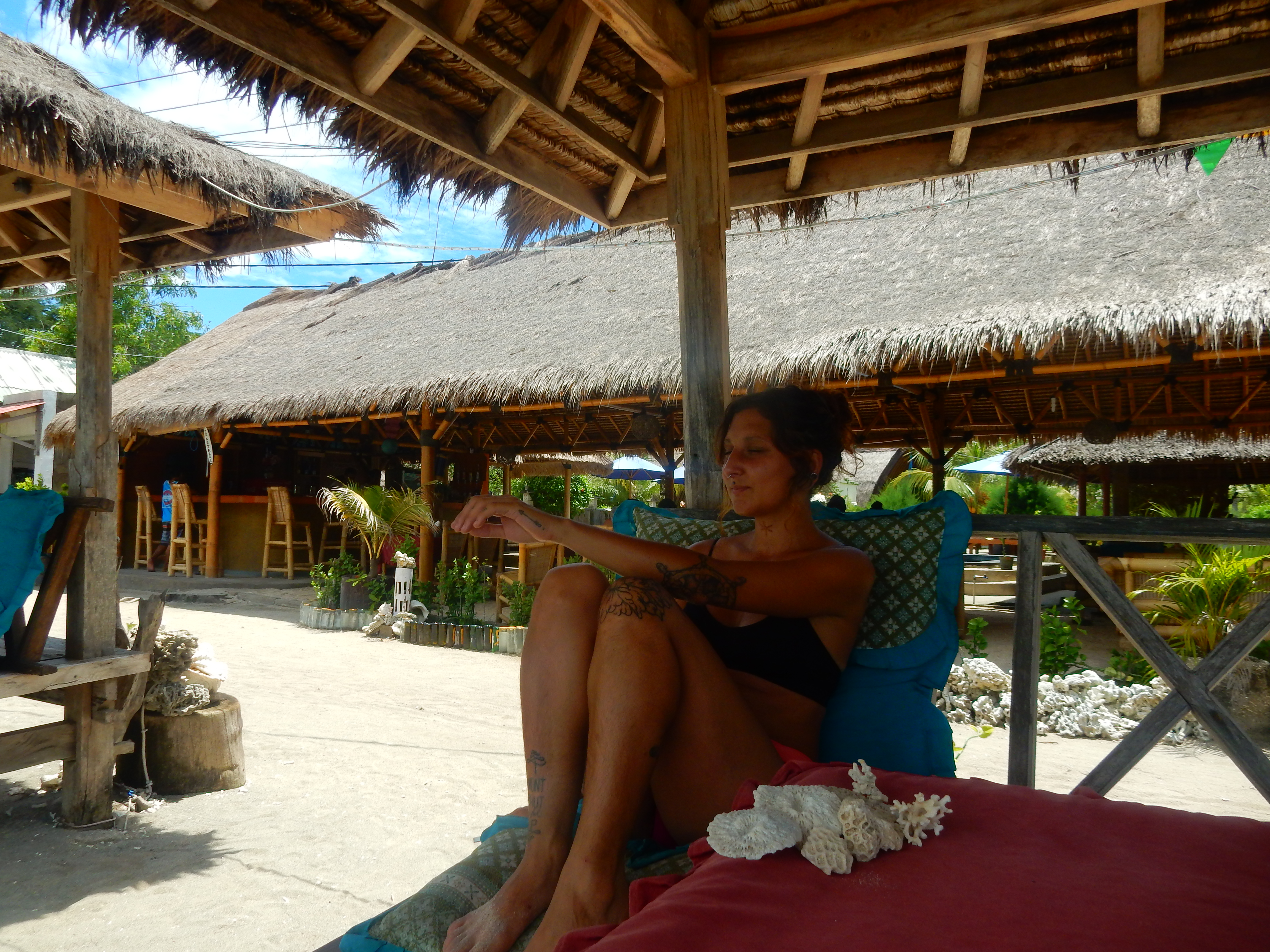 Bar bord de mer Gili Air, Indonésie