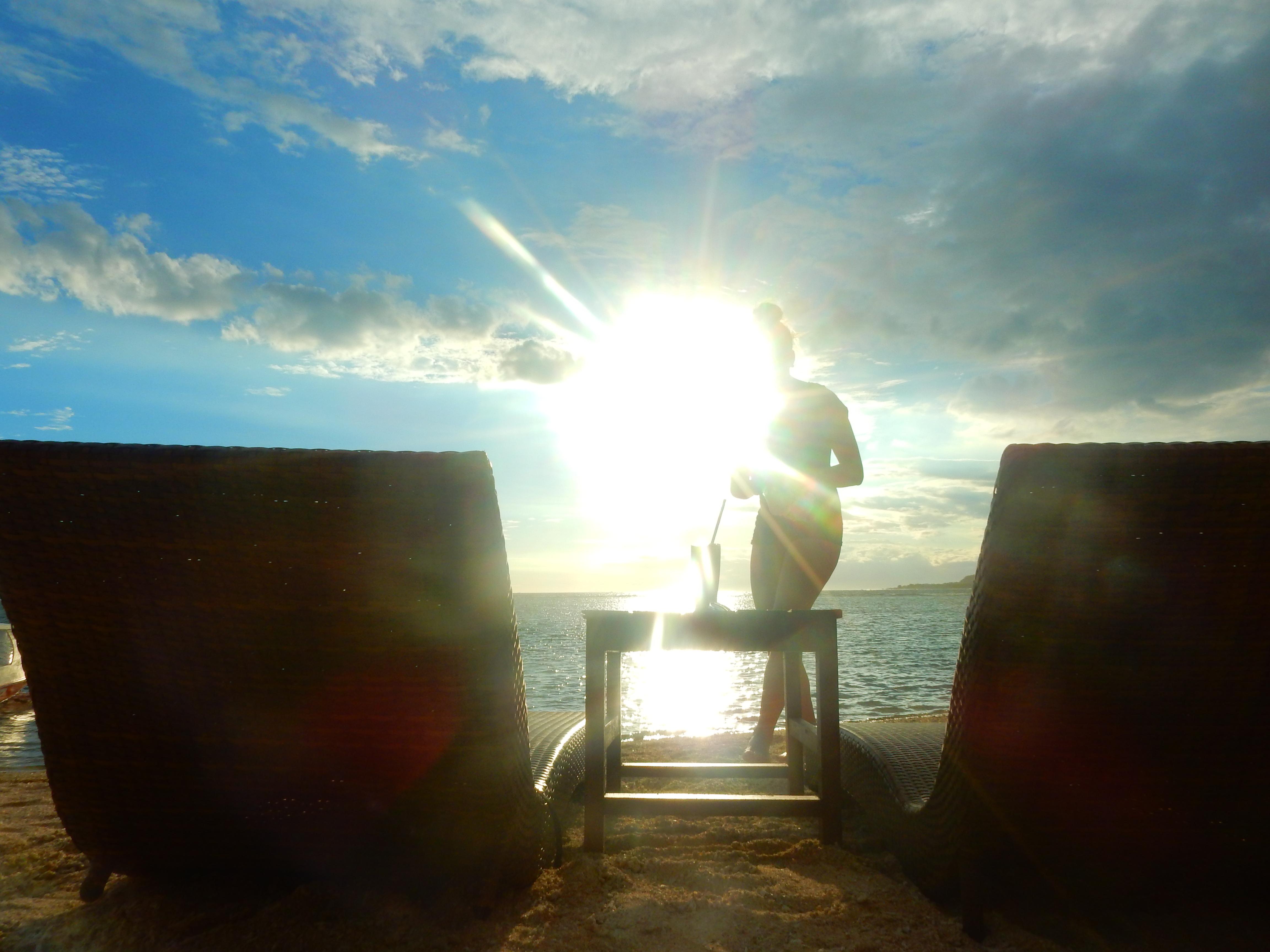 Coucher de soleil, Gili Air, Indonésie