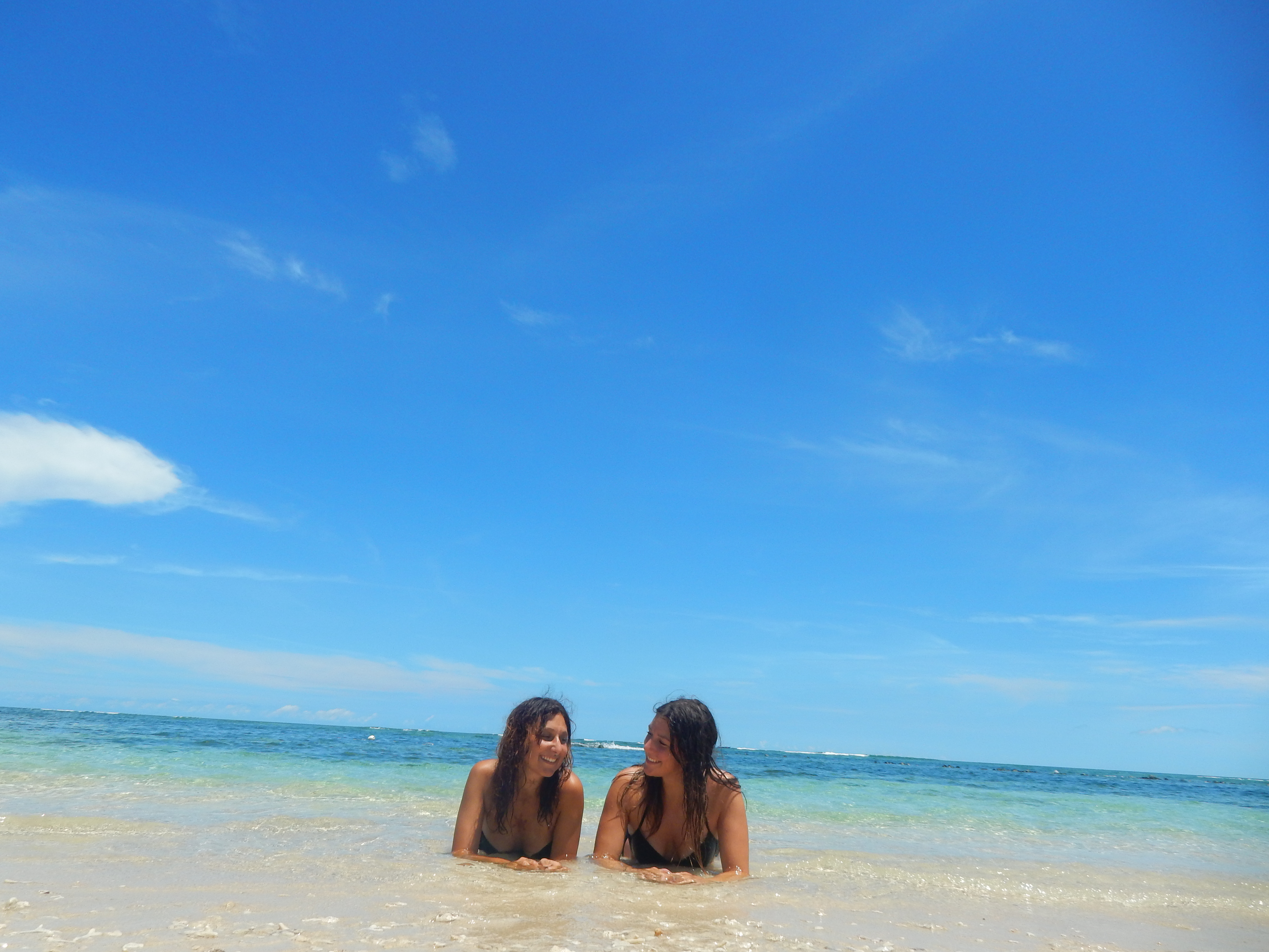 Plage de sable blanc Gili Air Indonésie