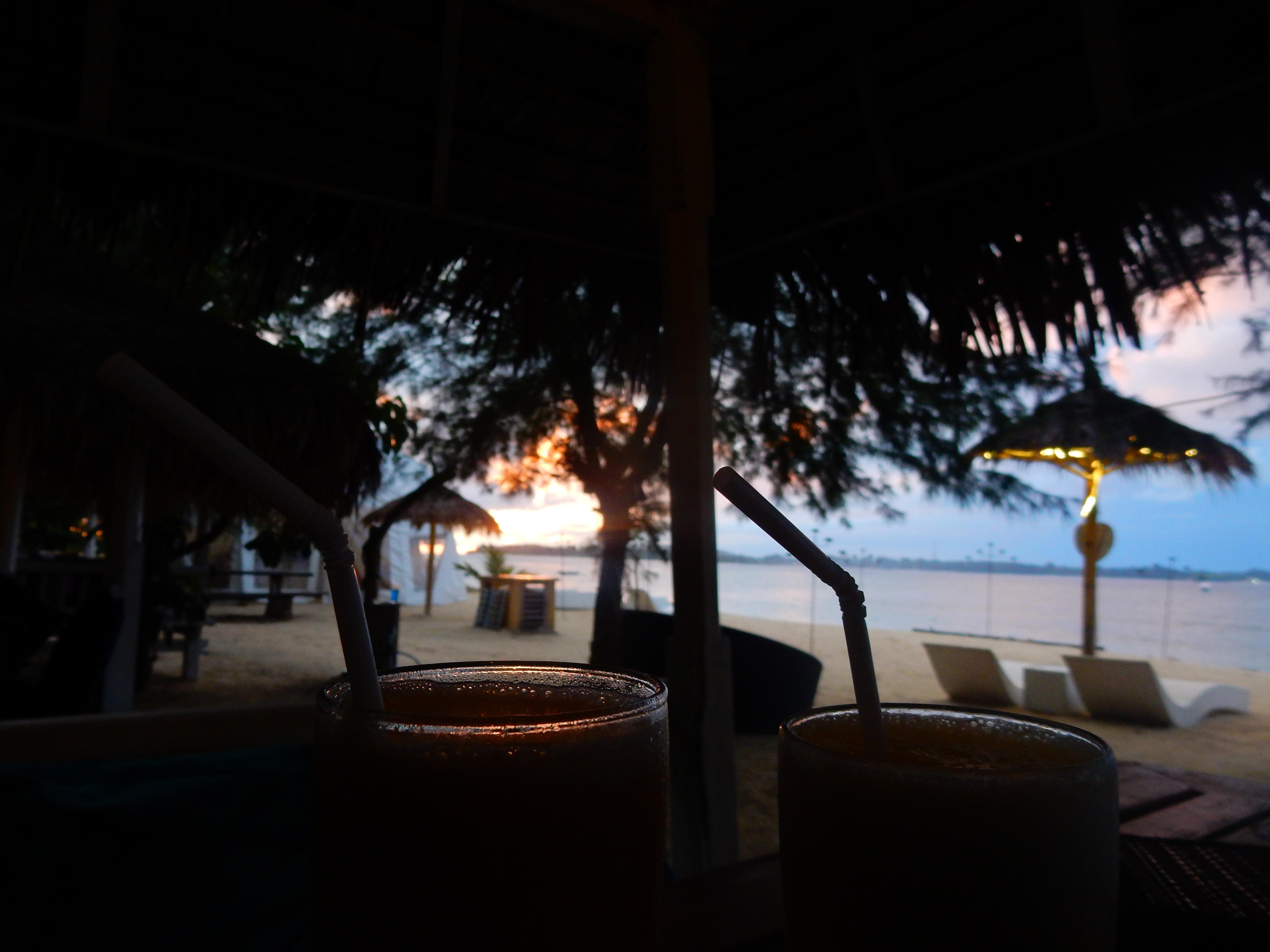 Cocktails, Sunset, Gili Air, Indonésie
