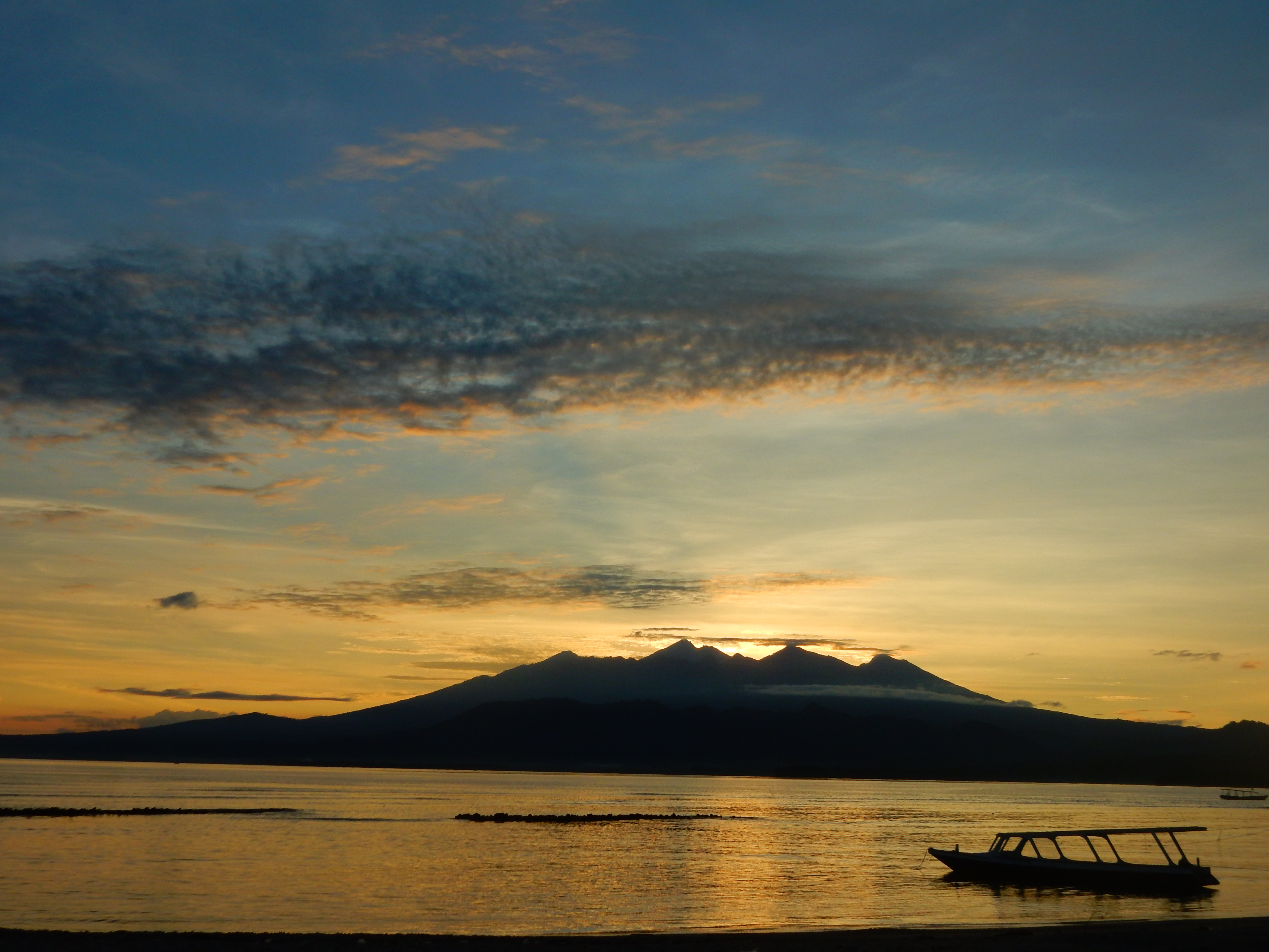 Lever de soleil, Sunrise, Gili Air, Indonésie