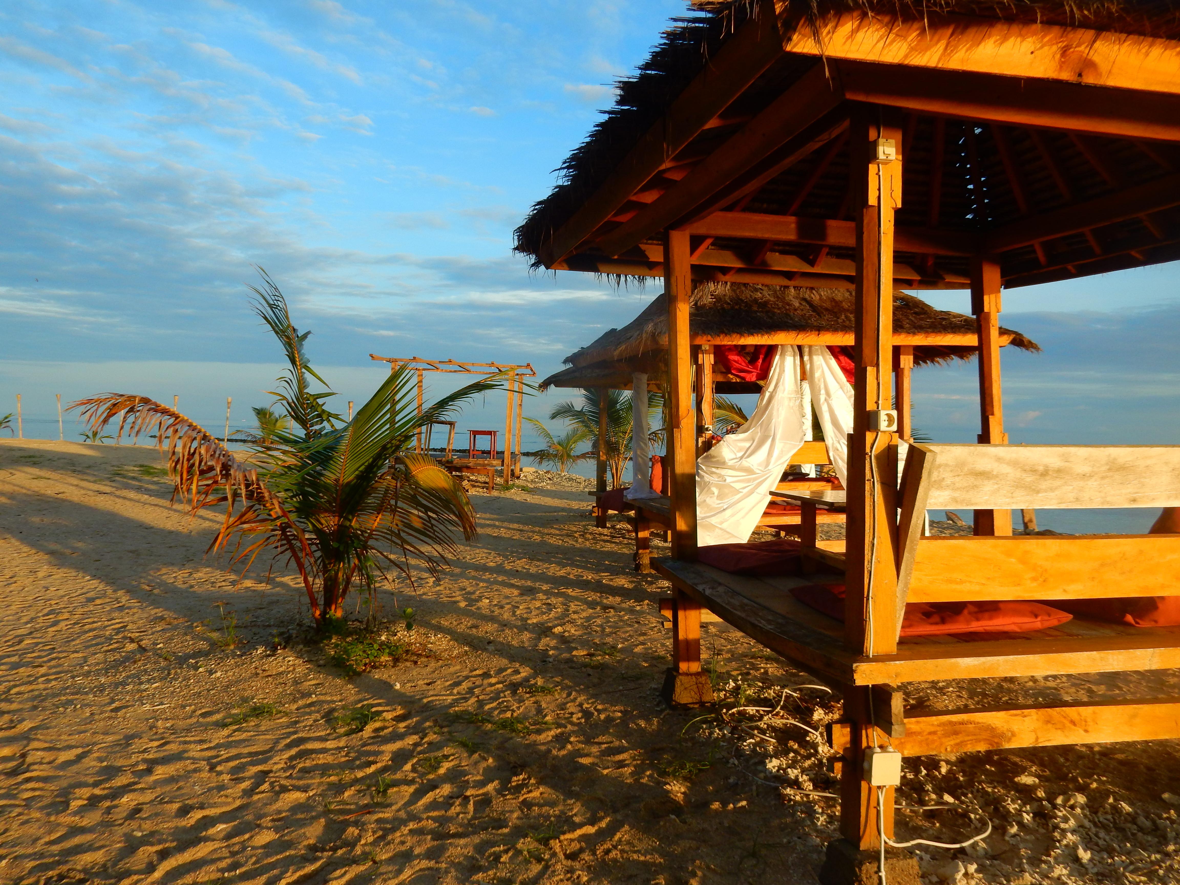 Lever de soleil, Sunrise, Hutte Gili Air, Indonésie