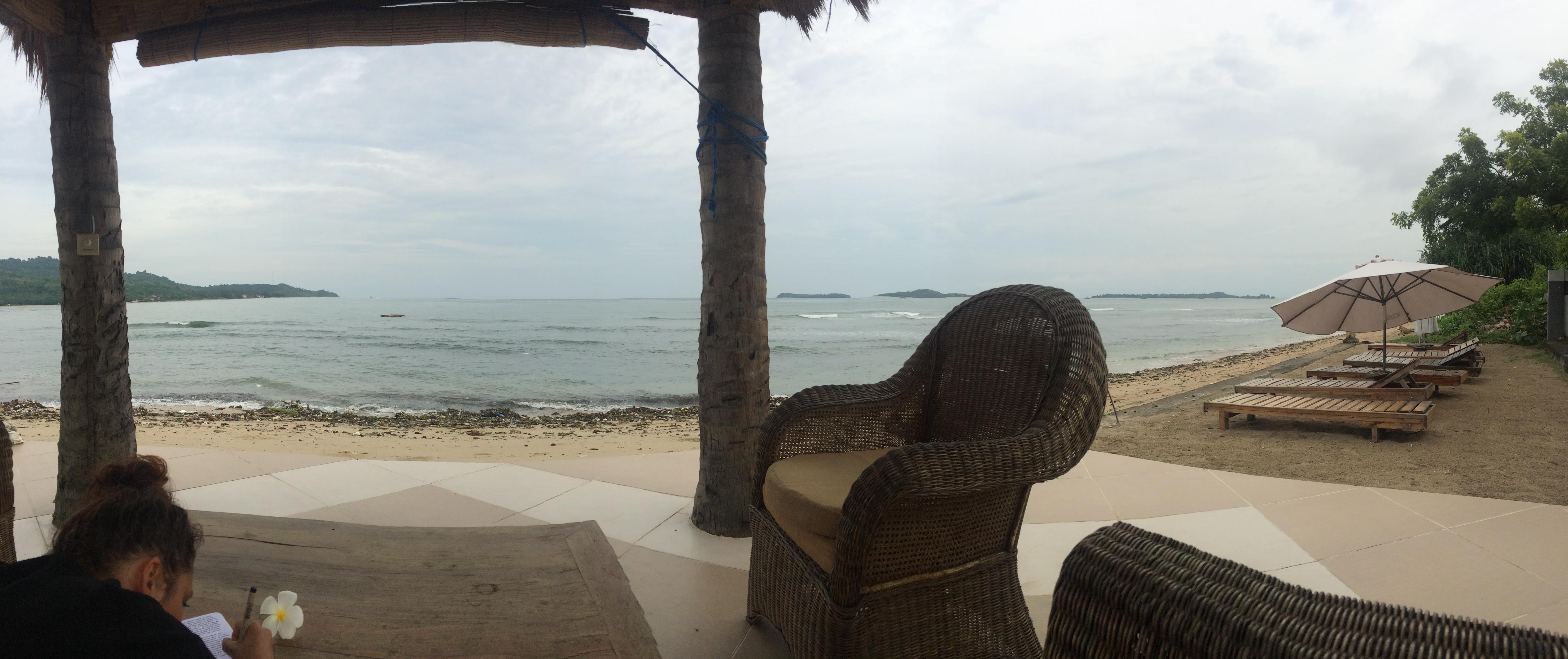 Plage hôtel Coral Palm, Lombok, Indonésie.