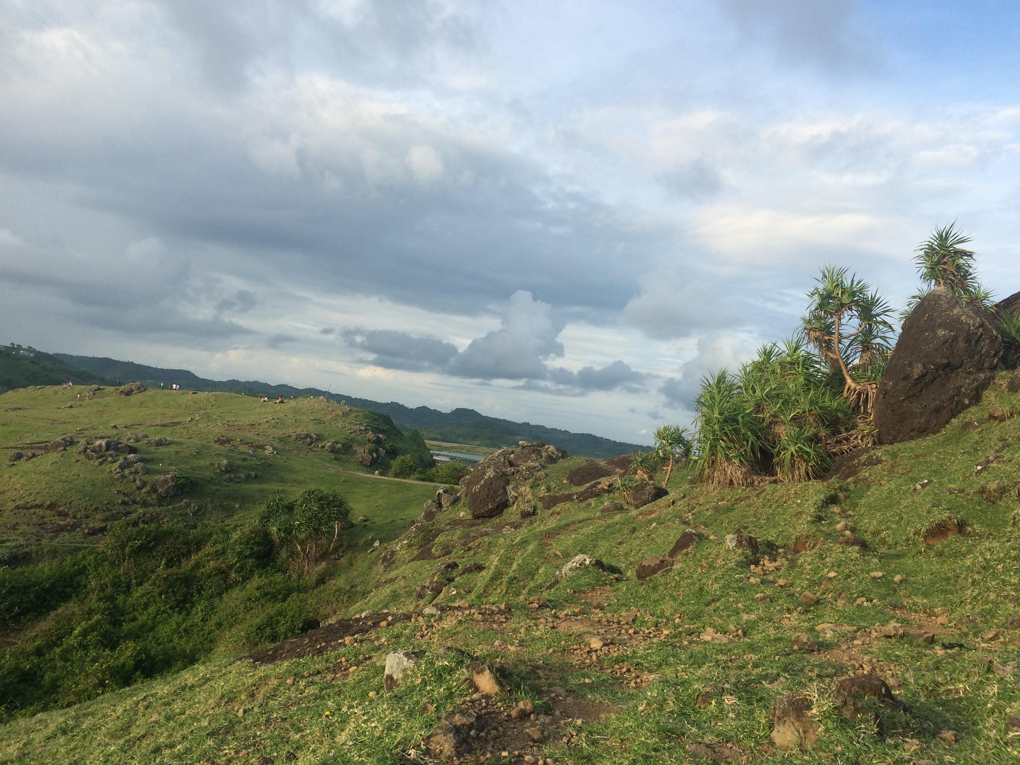 Vue colline de TAJUNGANN, Lombok, Indonésie
