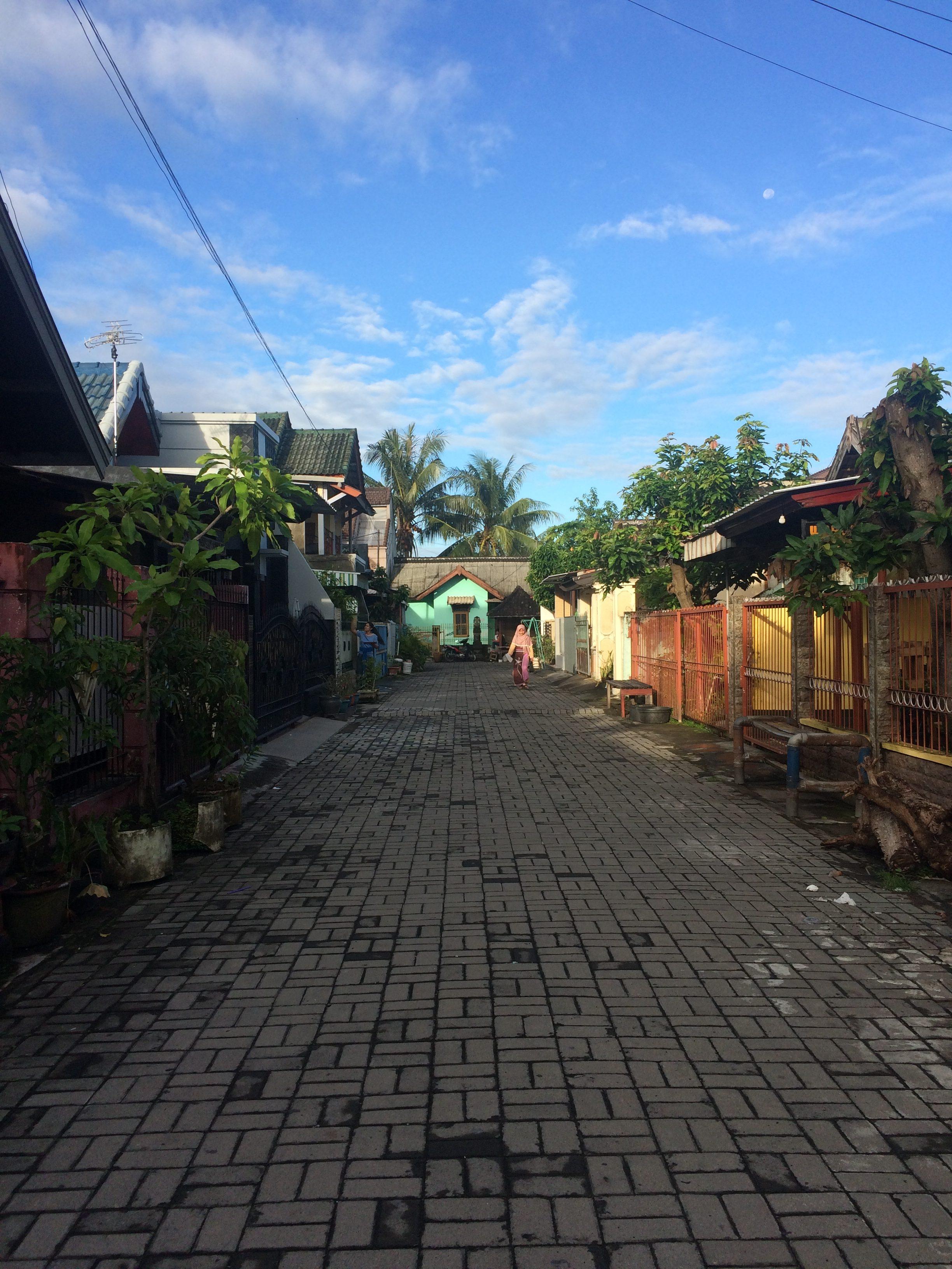 Rue de quartier Mataram Lombok.