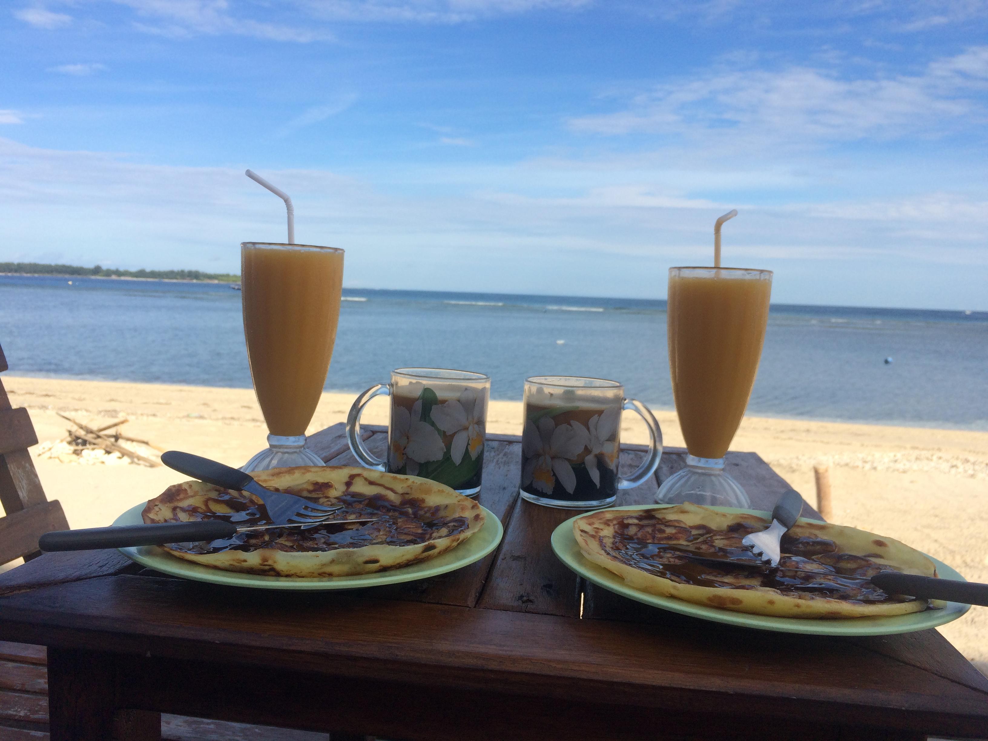 Hôtel Gili Air Matahari 1, Déjeuner bord de plage, Indonésie