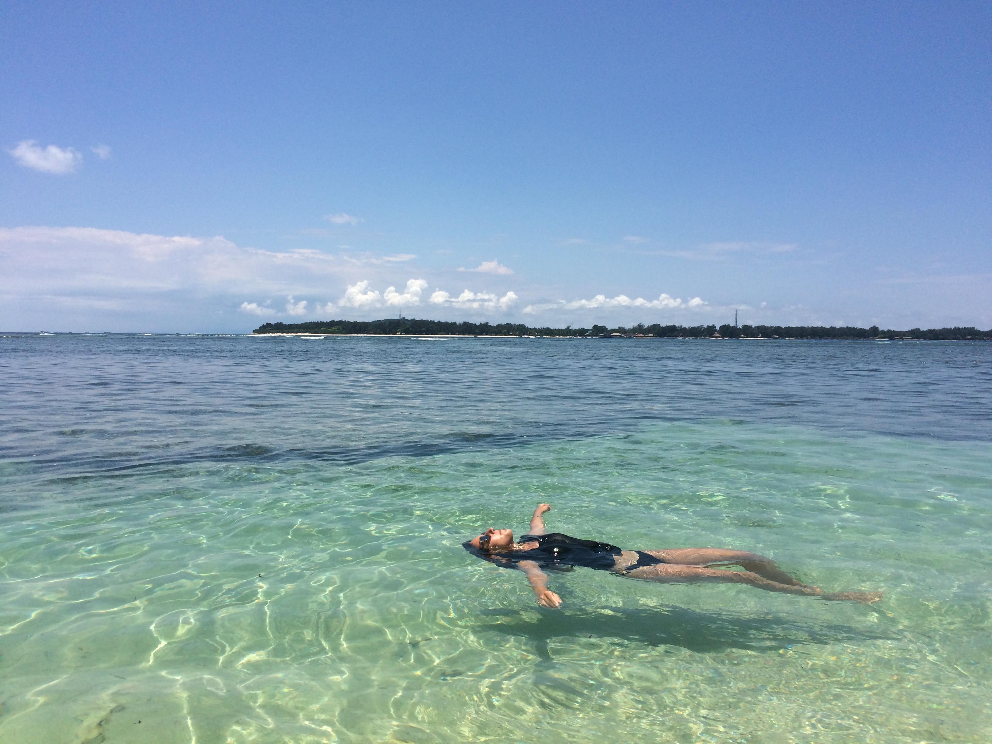 Eau turquoise Gili Air Indonésie