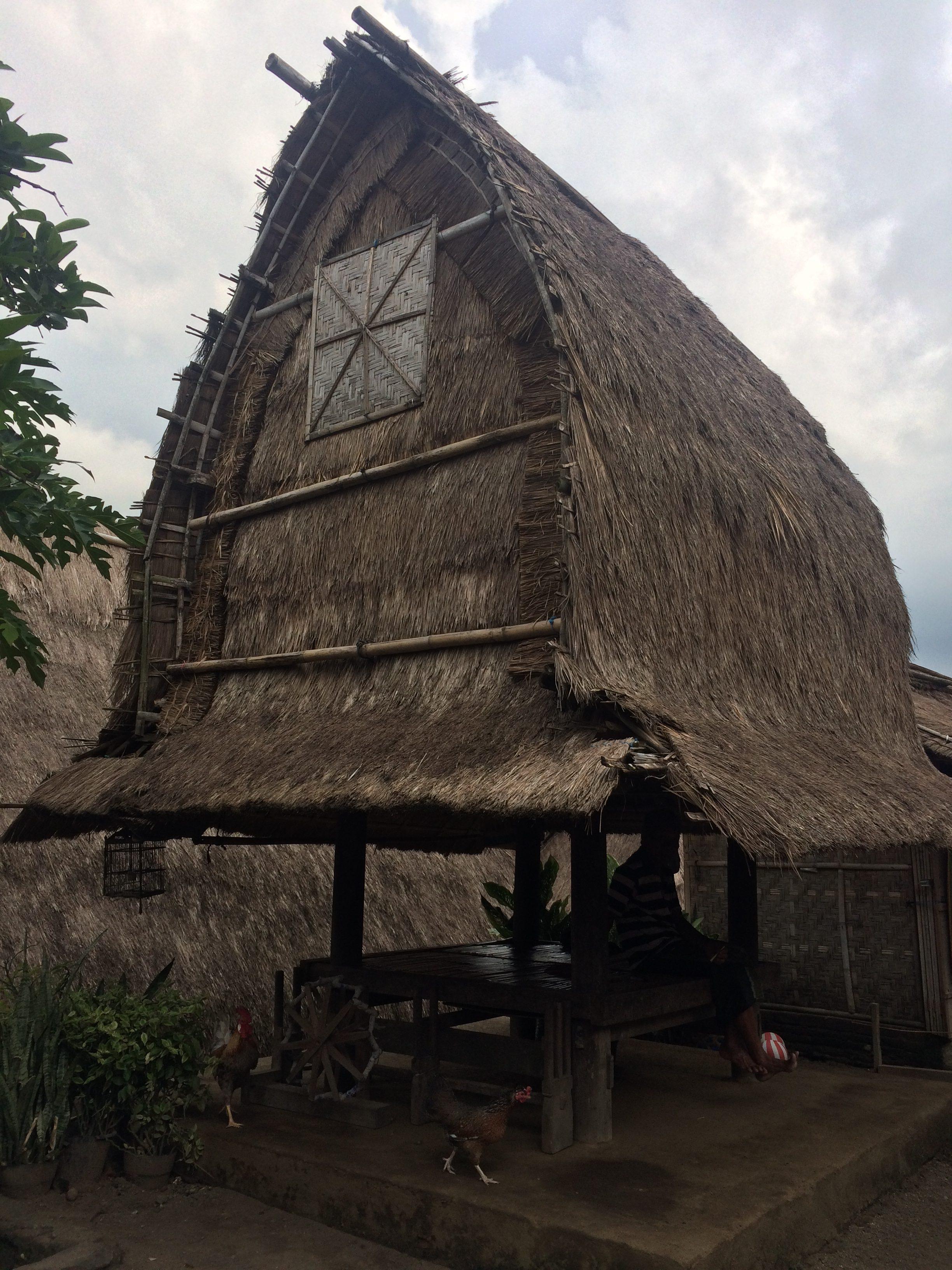Maison typique sasak, Village de Sade Lombok, Indonésie