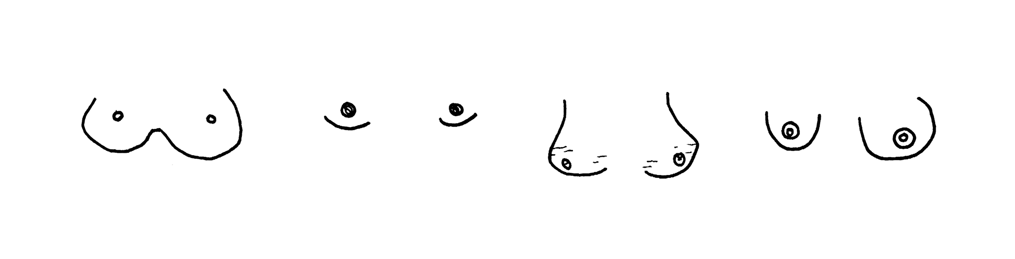 didikotani, boobs drawing