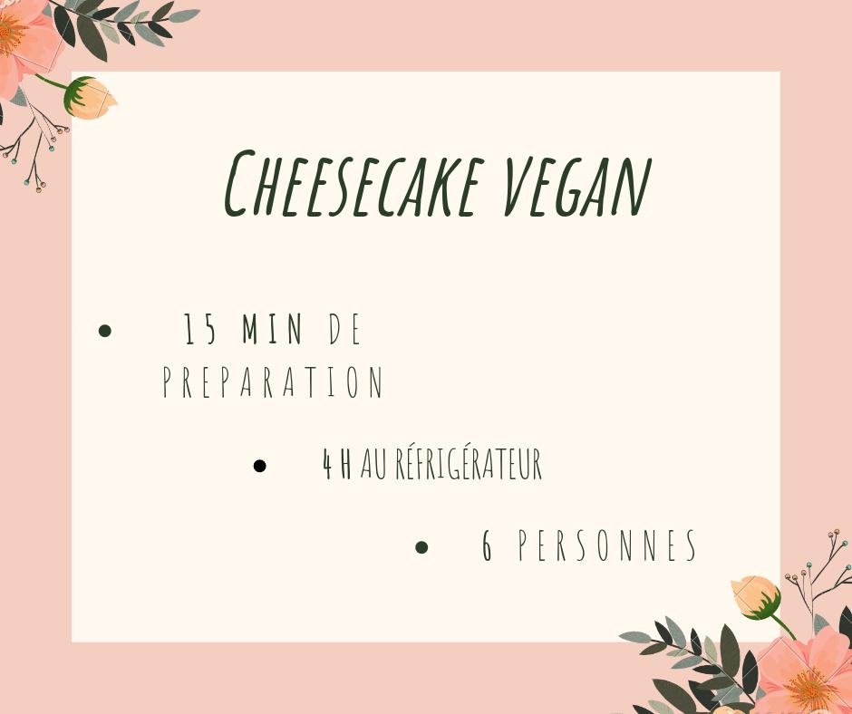 Recette cheesecake vegan RAW