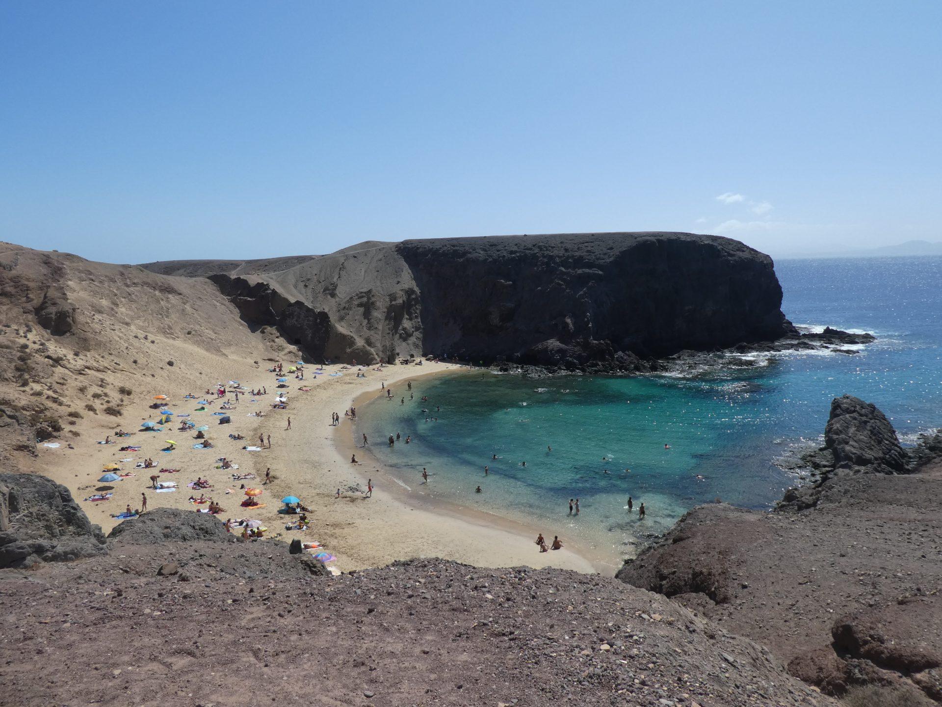 Que faire sur l'île de Lanzarote, Plage de Papagayo