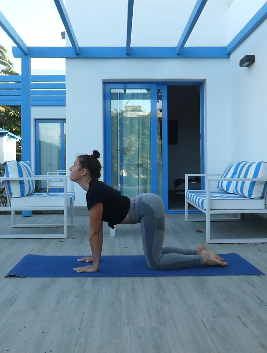 Posture chat dos creux, Marjaryasana, yoga