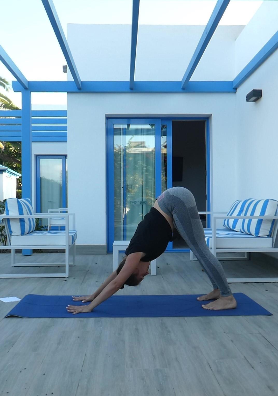 Posture chien tête en bas, utter mukha svanasana, yoga