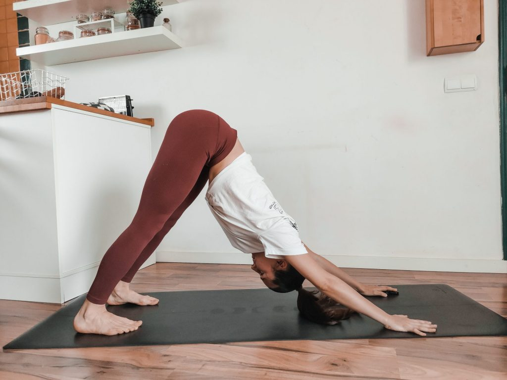 Downward facing dog posture Adho Muska Svanasana Sanskrit: