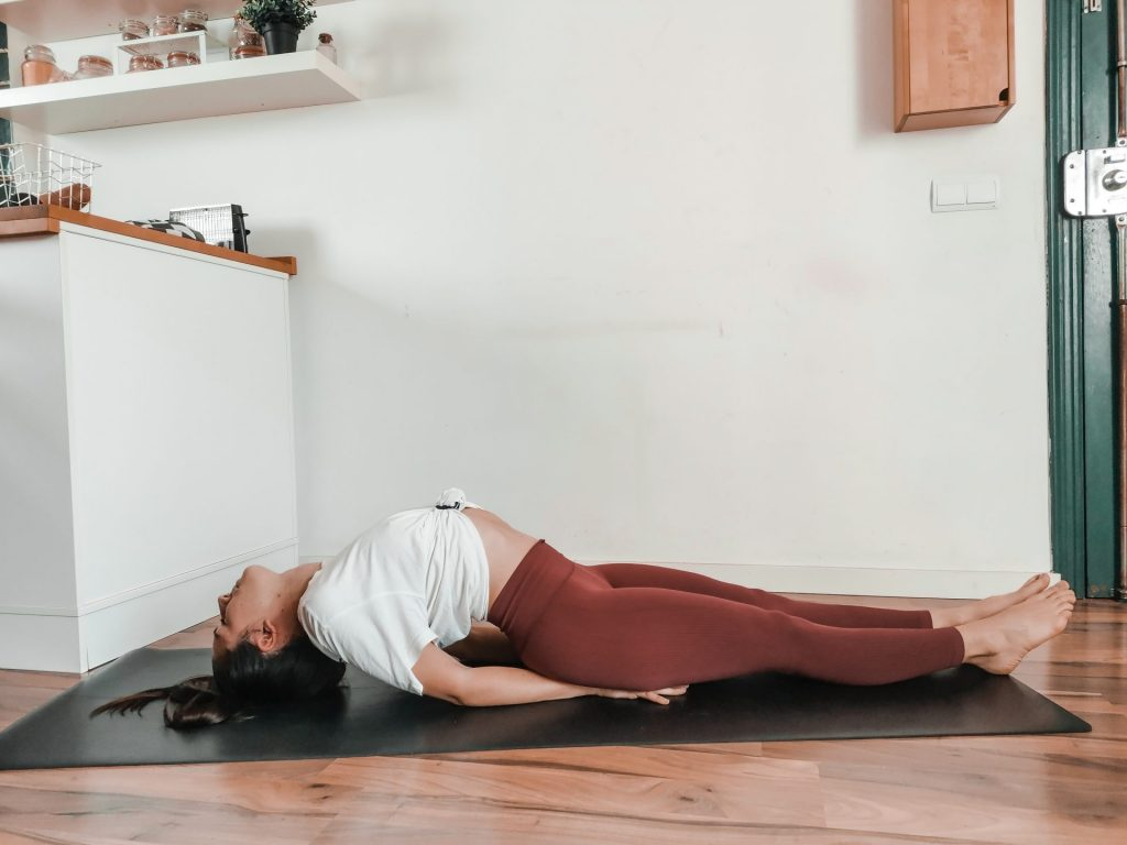 Matsyasana fish pose