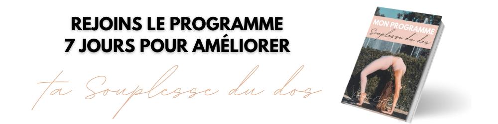Programme Souplesse Dos