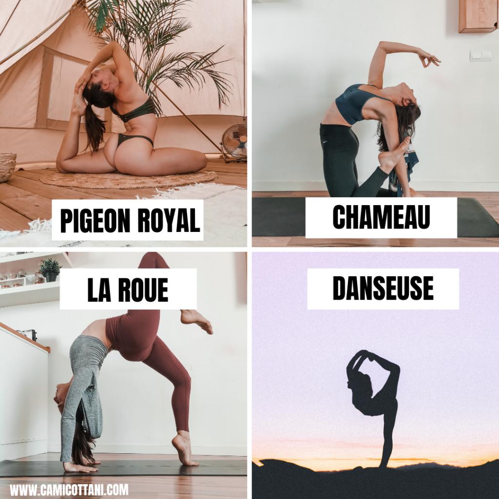 Postures de yoga avec ouverture du coeur