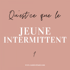 Jeune intermittent